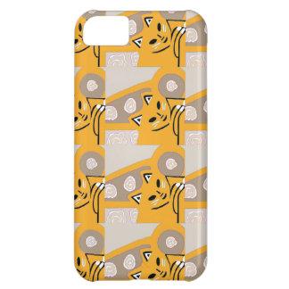Nouveau cadeau mignon kaki et de souci de chat d'i coques pour iPhone 5C
