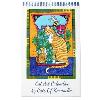 Calendriers Nouveau calendrier d'art de chat par des chats de