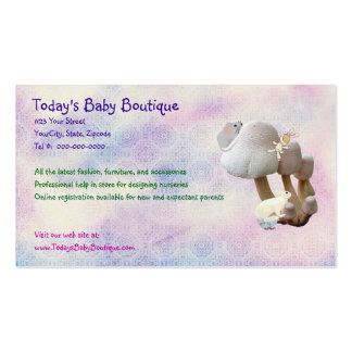 Nouveau carte de visite de produits de bébé