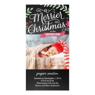 Nouveau carte photo de vacances de bébé de plus cartes de vœux avec photo