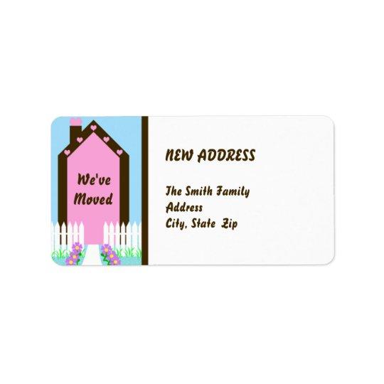 Nouveau changement d'adresse l'étiquette mobile étiquette d'adresse