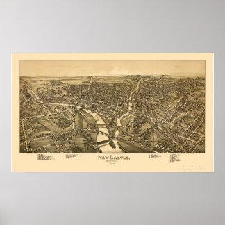 Nouveau château, carte panoramique de PA - 1896 Posters