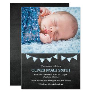 Nouveau faire-part de bébé/carte de remerciements