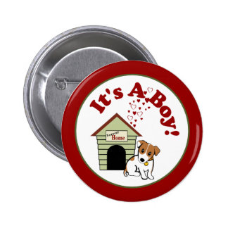 Nouveau faire-part de chiot [chien] badge