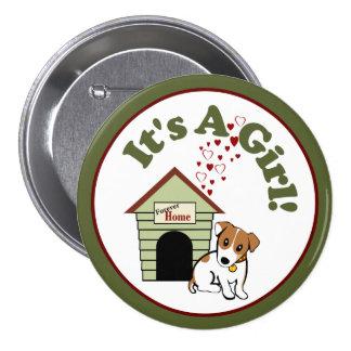 Nouveau faire-part de chiot [chien] badges