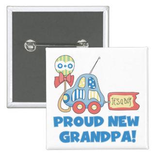 Nouveau grand-papa fier c'est des T-shirts et des  Badge Carré 5 Cm