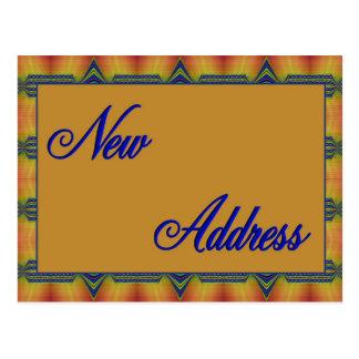 nouveau jaune et bleu d'adresse carte postale
