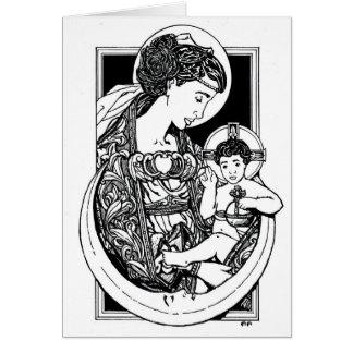 NOUVEAU ! Madonna et carte de Noël d'enfant !