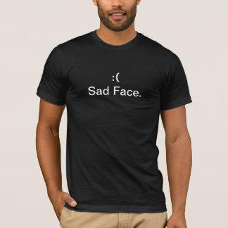 NOUVEAU NOIR triste de T-shirt de visage