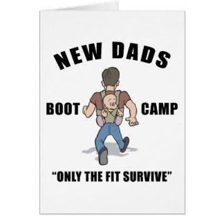 Nouveau papa Boot Camp Carte De Vœux