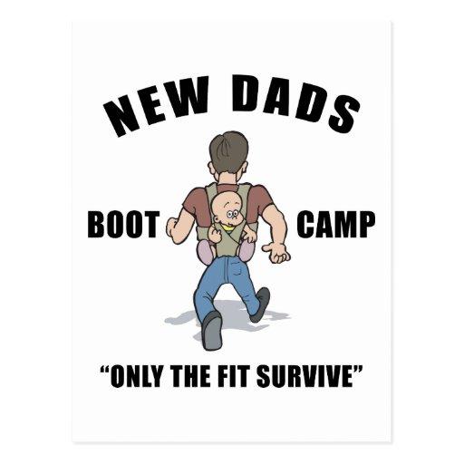 Nouveau papa Boot Camp Cartes Postales