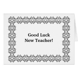 Nouveau professeur de bonne chance ! carte de vœux