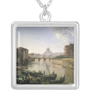 Nouveau Rome avec le Castel Sant'Angelo Pendentif Carré