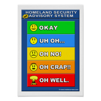 Nouveau système consultatif de sécurité de patrie poster