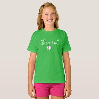 Nouveau T-shirt de filles de marguerite d'Encinal