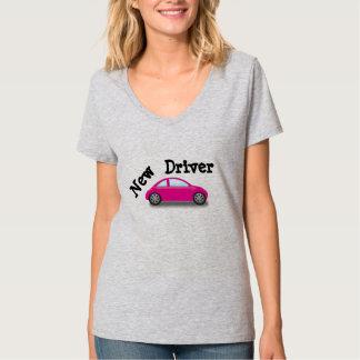 Nouveau T-shirt de voiture de rose de conducteur