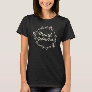 Nouveau T-shirt fier de dames de marraine