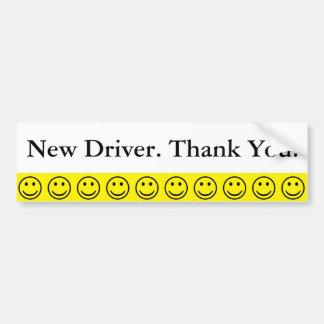 Nouveau texte de Merci de conducteur de visage Autocollant De Voiture
