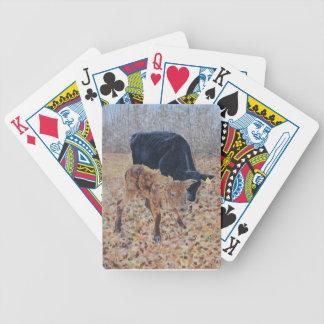 Nouveau veau cartes à jouer
