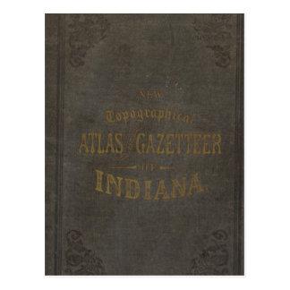 Nouveaux atlas et dictionnaire géographique carte postale
