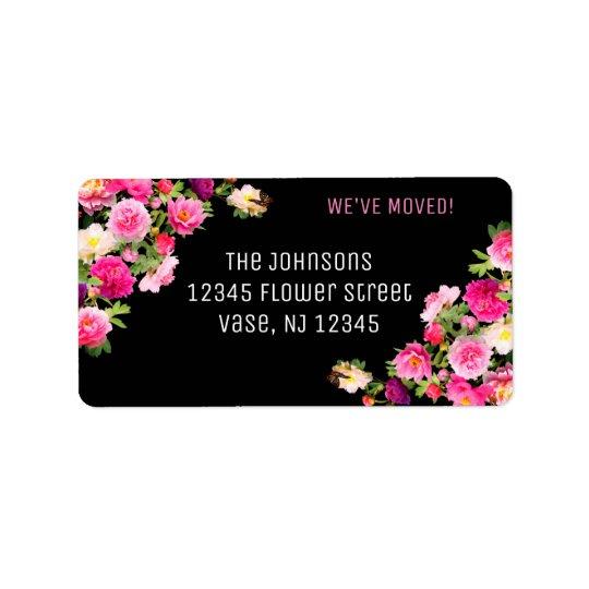 Nouveaux étiquettes de adresse de belles fleurs