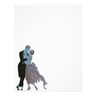 Nouveaux mariés vintages d'art déco, danse de prospectus 21,6 cm x 24,94 cm