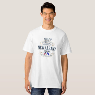 Nouvel Albany, Indiana 200th Anniv. T-shirt blanc