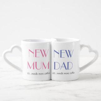 Nouvel ensemble de tasse de maman et de papa