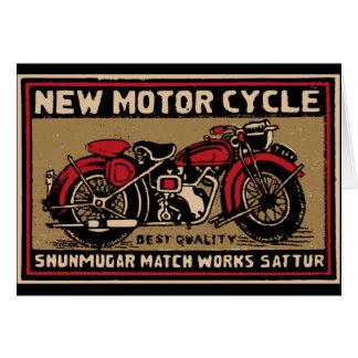 Nouvel étiquette de match de sécurité de moto cartes de vœux