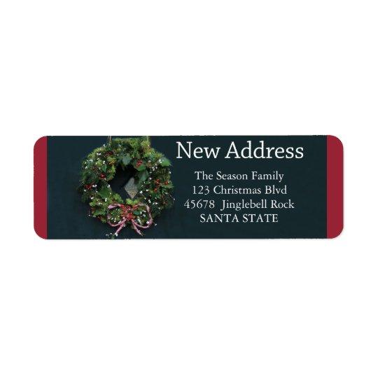 Nouvel étiquette de vacances de guirlande de Noël