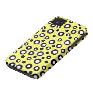 Nouvel iPhone mignon 4 points noirs de cas et blan