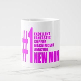Nouvel maman du numéro moderne le rose de mamans n mug extra large