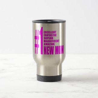 Nouvel maman du numéro moderne le rose de mamans n tasse à café