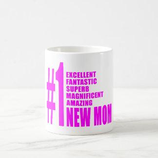 Nouvel maman du numéro moderne le rose de mamans n tasses à café