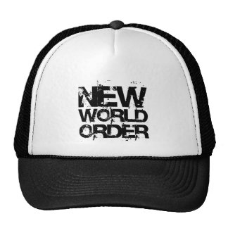 Nouvel ordre mondial casquettes de camionneur