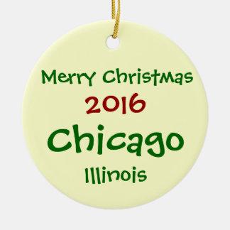 NOUVEL ORNEMENT 2016 DE JOYEUX NOËL DE CHICAGO