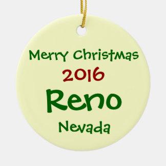 NOUVEL ORNEMENT 2016 DE JOYEUX NOËL DE RENO NEVADA