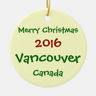 NOUVEL ORNEMENT 2016 DE JOYEUX NOËL DE VANCOUVER