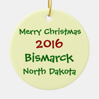 NOUVEL ORNEMENT 2016 DE NOËL DE BISMARCK LE DAKOTA