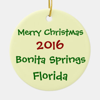 NOUVEL ORNEMENT 2016 DE NOËL DE BONITA SPRINGS LA