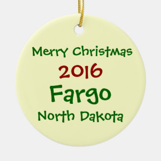 NOUVEL ORNEMENT 2016 DE NOËL DE FARGO LE DAKOTA DU