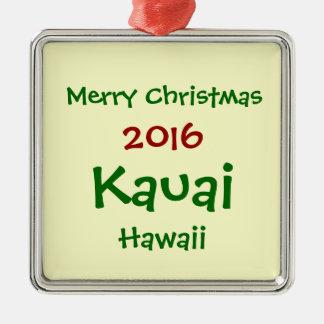 NOUVEL ORNEMENT 2016 DE VACANCES DE NOËL DE KAUAI