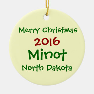 NOUVEL ORNEMENT DE NOËL DE 2016 MINOT LE DAKOTA DU