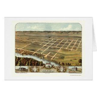 Nouvel Ulm, carte panoramique de manganèse - 1870
