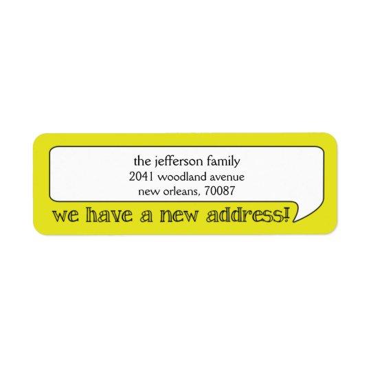 Nouvelle adresse de bulle lumineuse/faire-part étiquettes d'adresse retour