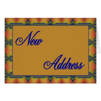 nouvelle adresse jaune et bleue carte de vœux