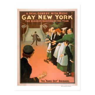 Nouvelle affiche gaie de théâtre de monsieur de cartes postales