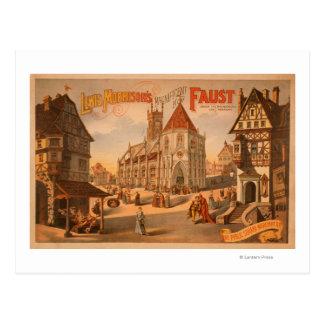Nouvelle affiche magnifique de Faust Nuremberg Carte Postale