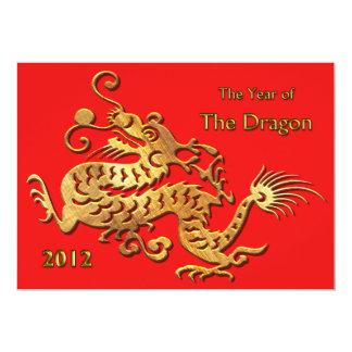 Nouvelle année chinoise 2012 ans du dragon bristols personnalisés
