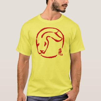 Nouvelle année chinoise abstraite du T-shirt de